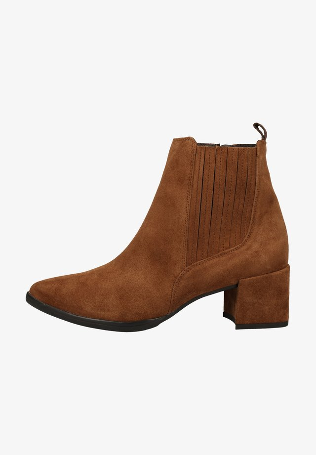 STIEFELETTE - Ankle boots - mittelbraun