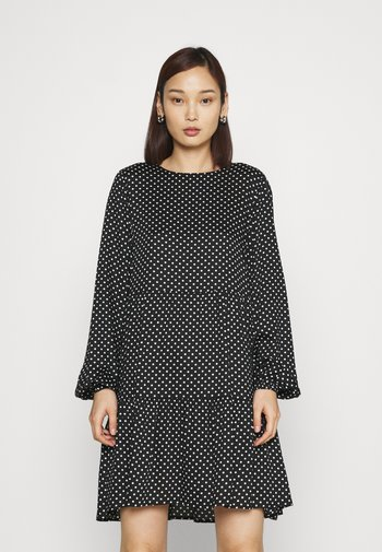 VMFIE SHORT DRESS - Day dress - black/birch