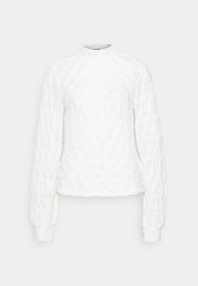 MALECA - Top sdlouhým rukávem - bright white