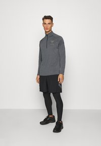 Under Armour - PROJECT ROCK TECH ZIP - Funktionstrøjer - pitch gray light heather - 1