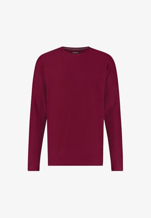 L/SLV COOPER CREW NECK - Sweatshirt - haute red