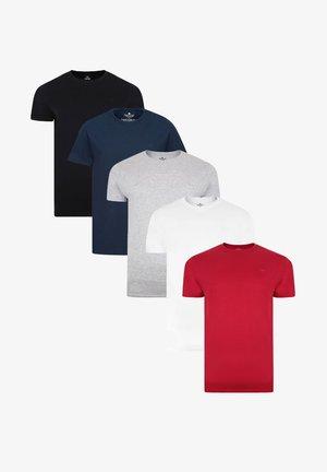 THREADBARE T-SHIRT BASIC 5ER PACK - Basic T-shirt - mehrfarbig
