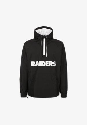 NFL OVERLAP LOGO LAS VEGAS RAIDERS  - Windbreaker - black