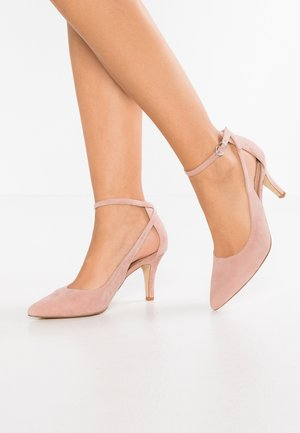 LEATHER PUMPS - Høye hæler - pink
