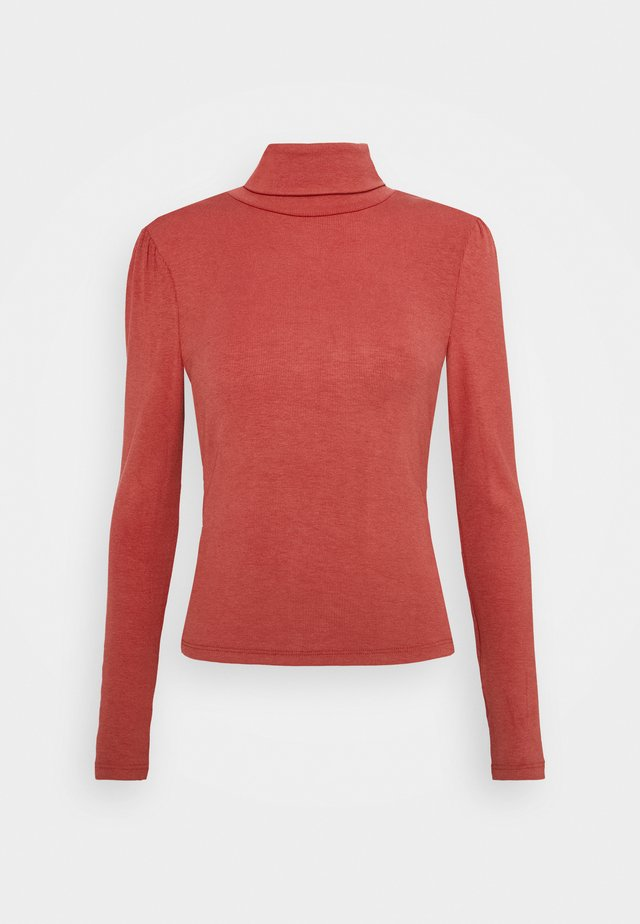LONG SLEEVES AND ROLLNECK - T-shirt à manches longues - burnt orange