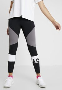 ASICS - COLOR BLOCK CROPPED  - Leggings - black/antracithe - 0