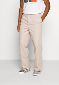 Weekday - ROSS WIDE TROUSERS - Trousers - beige - 0