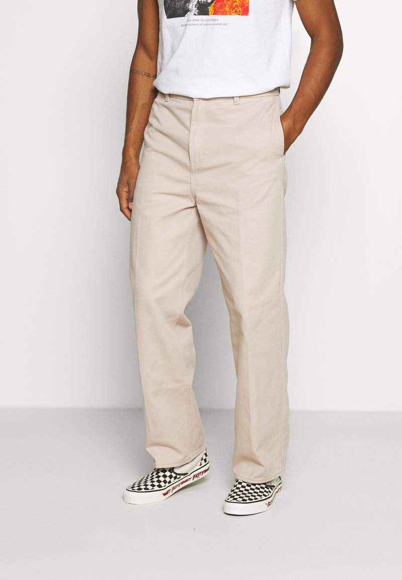 Weekday - ROSS WIDE TROUSERS - Trousers - beige