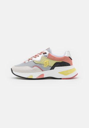 HOA  - Trainers - white/yellow/coquille