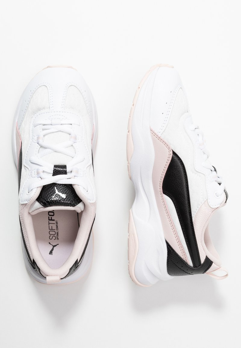 Puma - CILIA CHEETAH - Baskets basses - white/black/rosewater