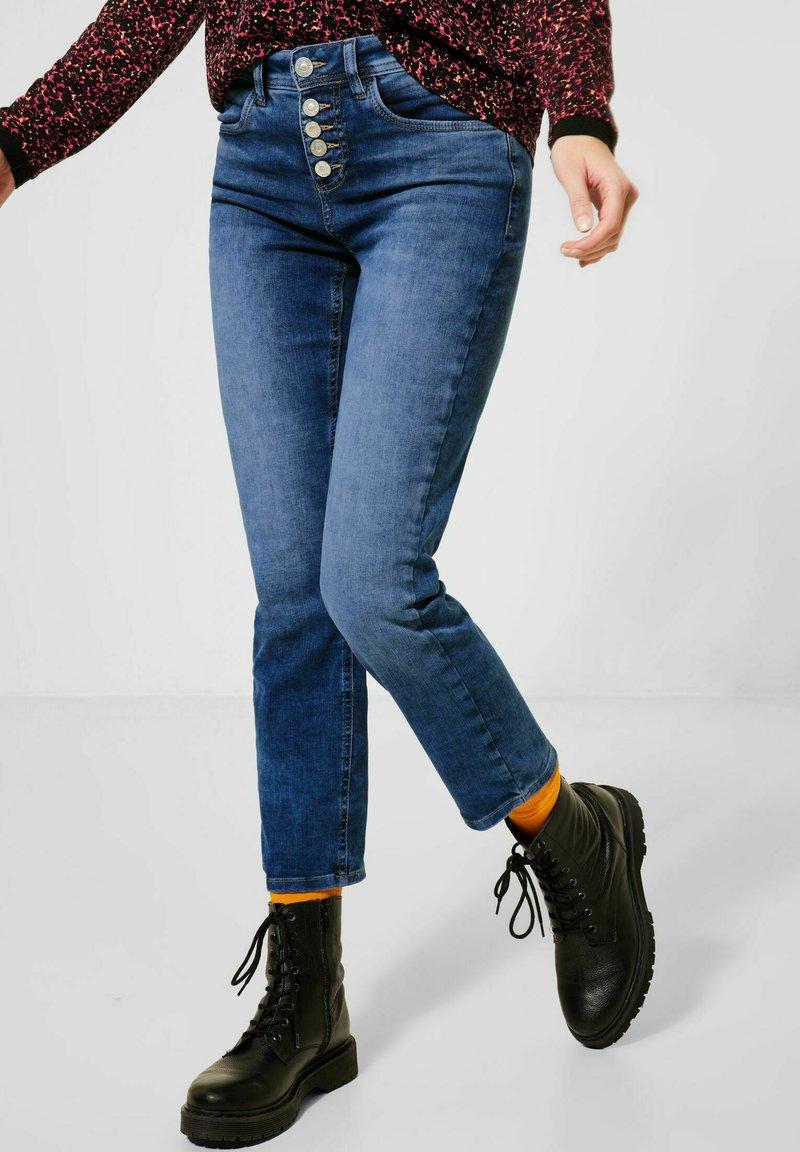 Street One - SLIM FIT  - Slim fit jeans - blau
