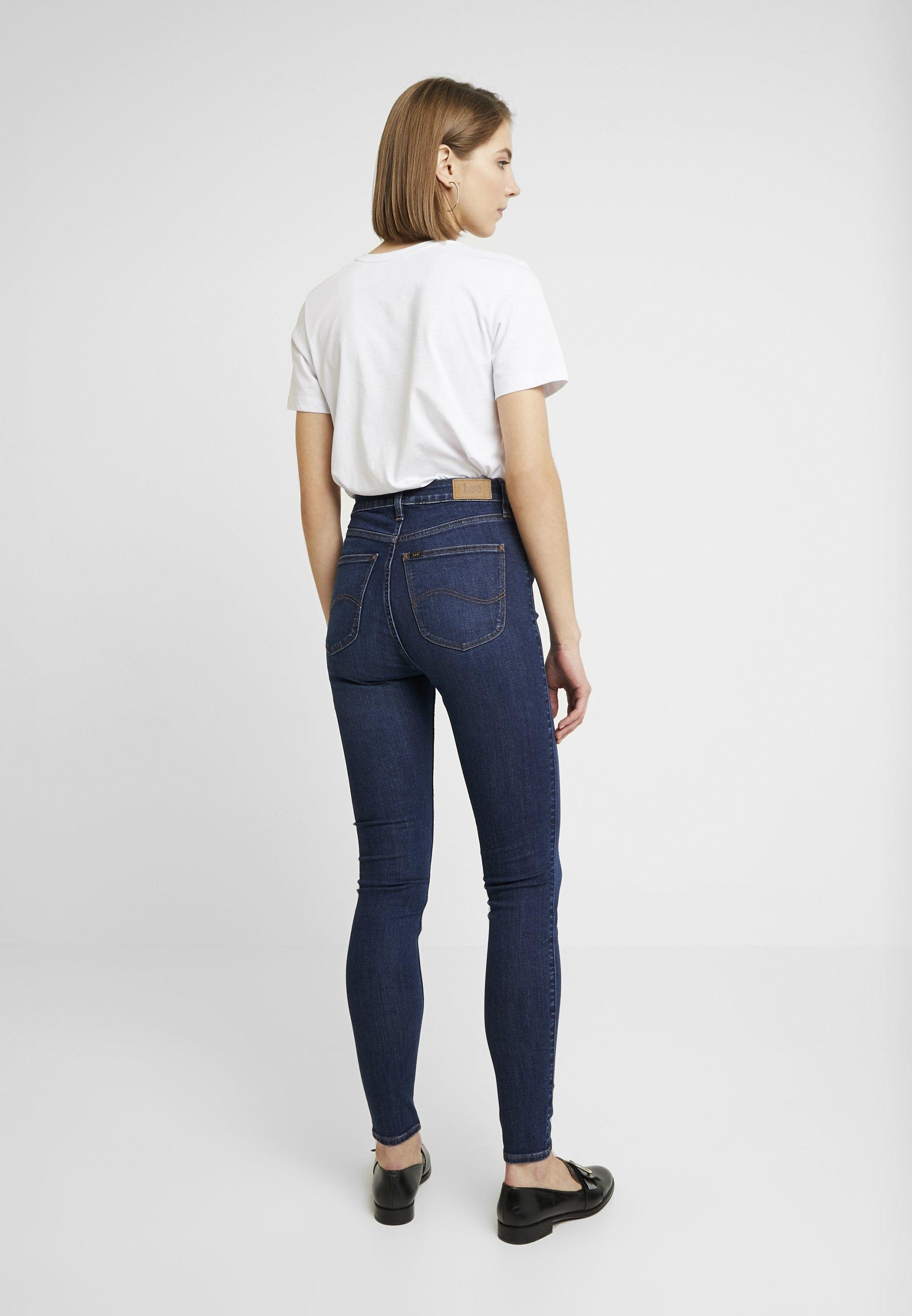 Lee IVY - Jeans Skinny - dark hunt - Jeans Femme BrDIu