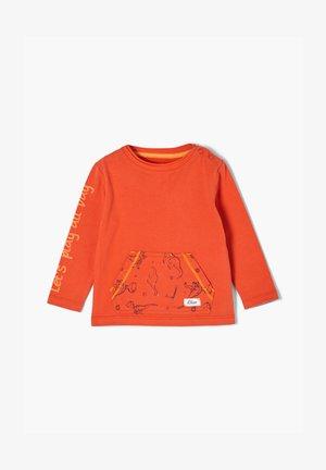 MIT DINO-PRINT - Long sleeved top - dark orange