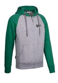 Spitzbub - SPITZBUB HOODED ZIP OLIVER - Zip-up hoodie - grau/grün - 3