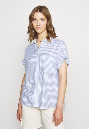 Button-down blouse - blue pattern
