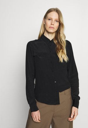 MONA - Button-down blouse - jet black