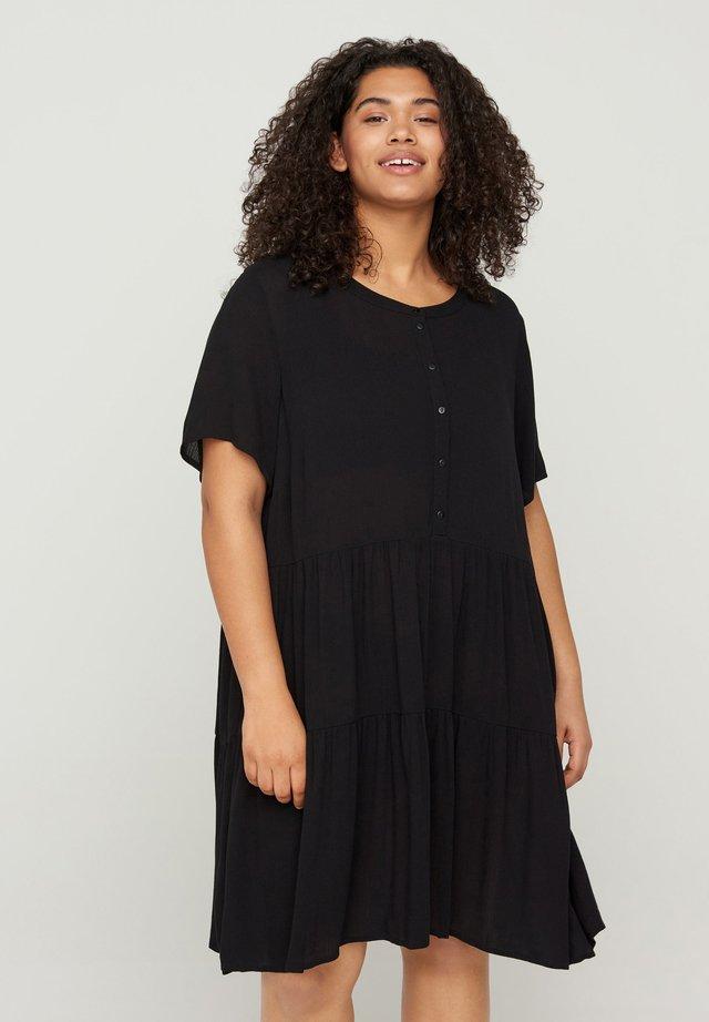 MED A-FORM - Shirt dress - black