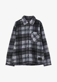 PULL&BEAR - Fleece jacket - mottled dark grey - 5