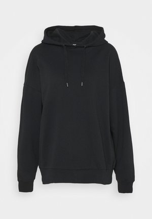 LONG OVERSIZED HOODIE - Huppari - black