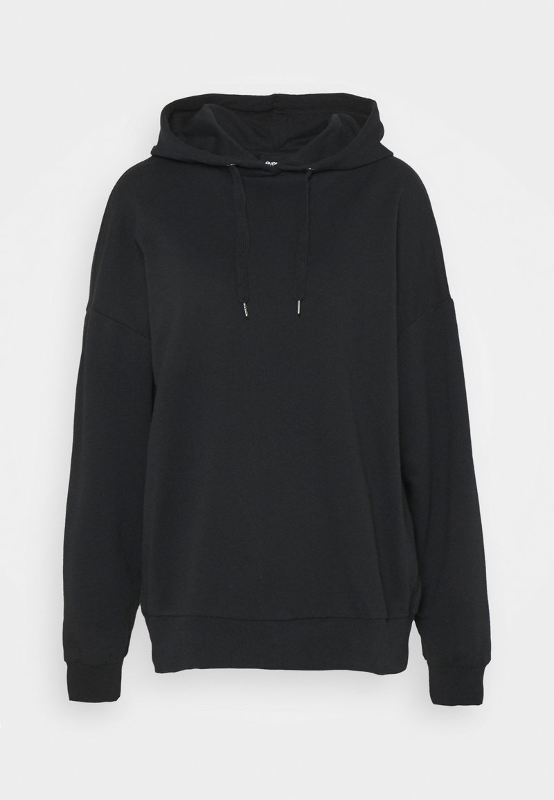 Even&Odd - LONG OVERSIZED HOODIE - Hoodie - black