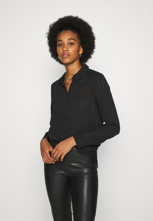 VIKAMOLIA SHIRT - Button-down blouse - black
