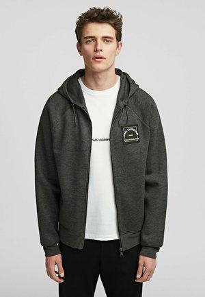 Sweat à capuche zippé - dark grey melange
