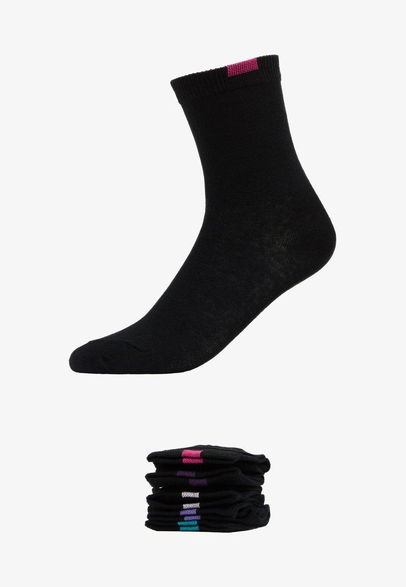 DIM ECODIM CREW SOCKS 5 PACK - Socken - black/schwarz LvoCoE