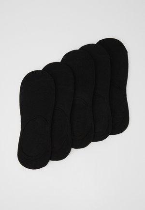 INVISIBLES 5 PACK - Varrettomat sukat - black