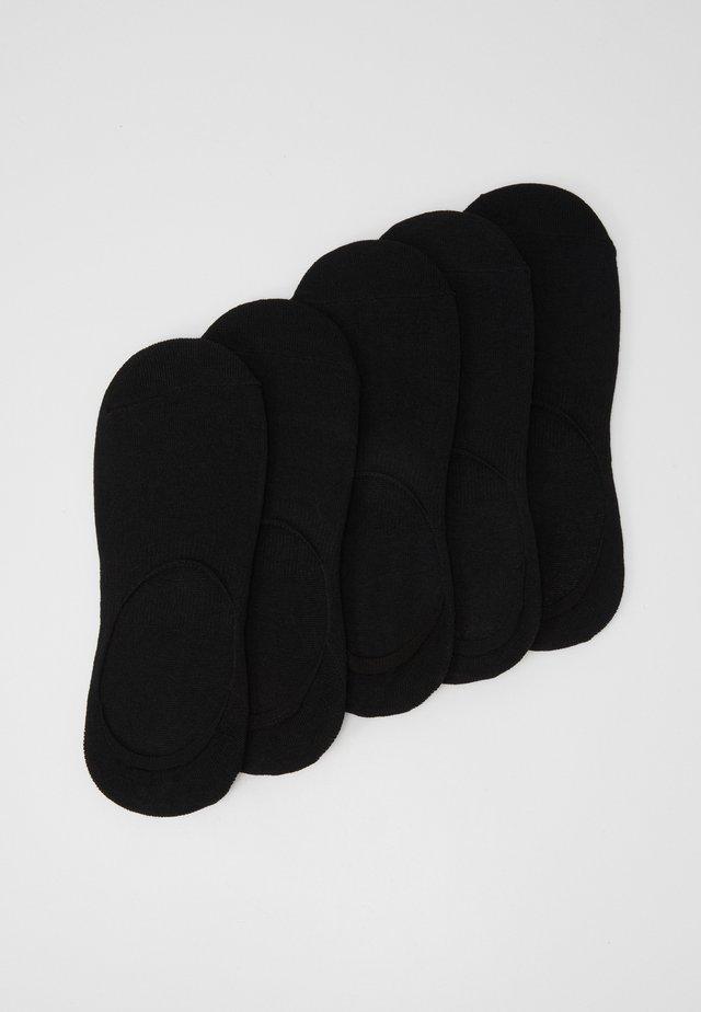 INVISIBLES 5 PACK - Calcetines tobilleros - black