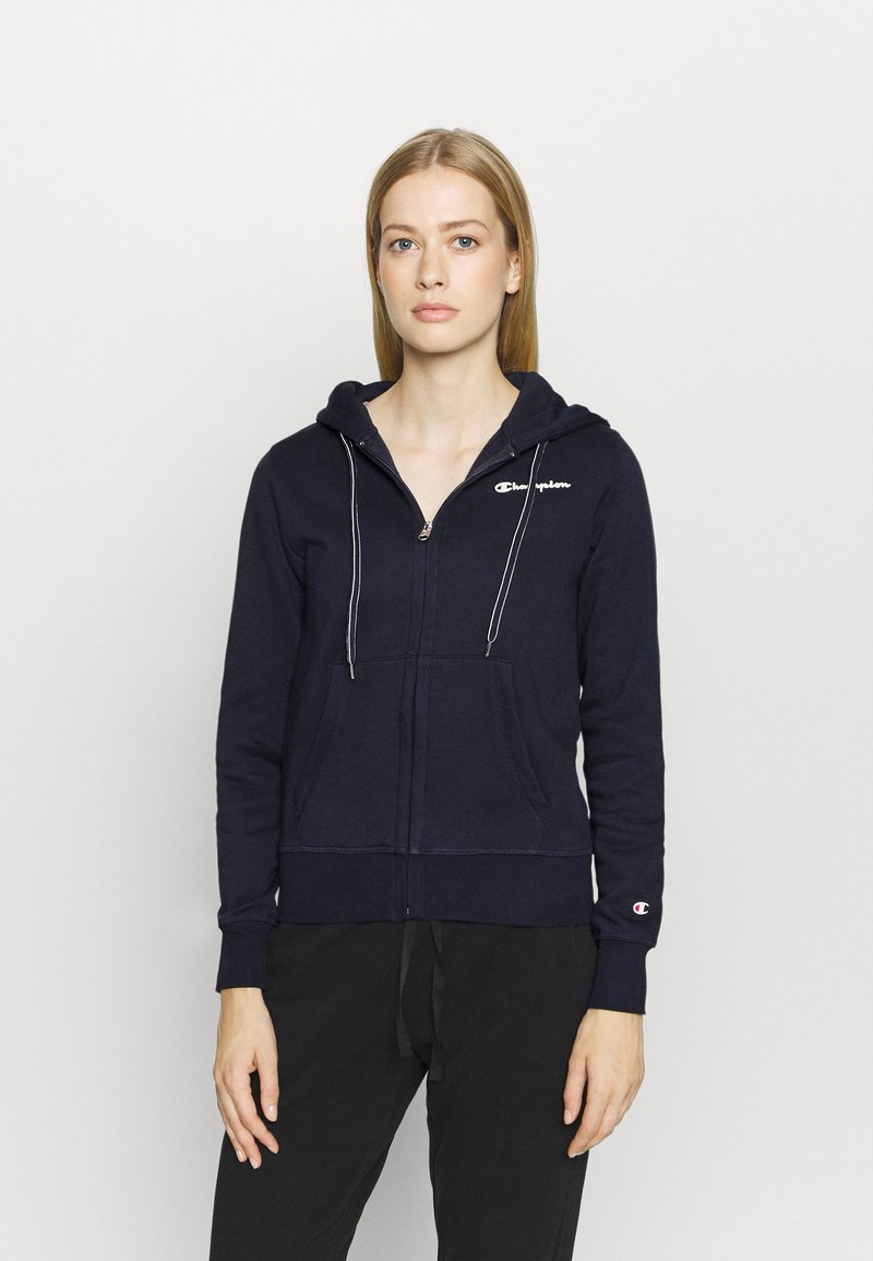 Champion - HOODED FULL ZIP - Jersey con capucha - dark blue