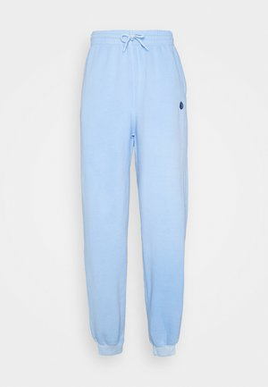 CORE OVERDYED JOGGER WITH YIN YANG UNISEX - Tracksuit bottoms - overdyed sky blue