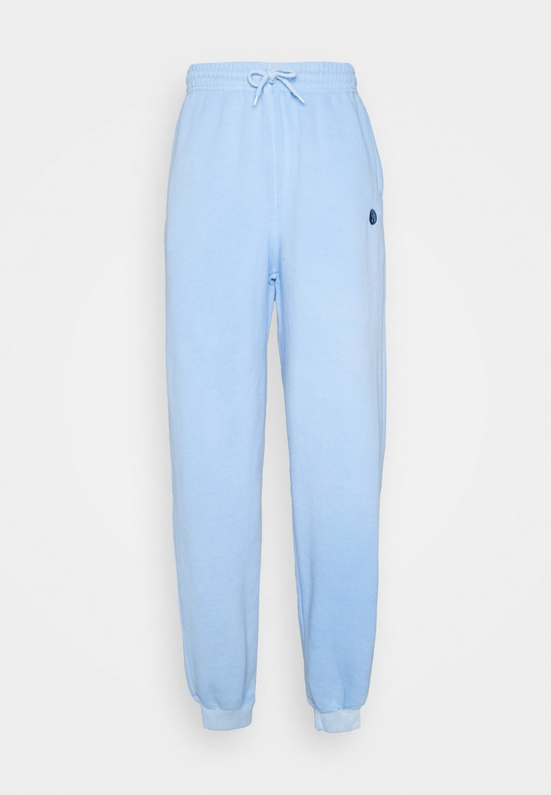 Vintage Supply - CORE OVERDYED JOGGER WITH YIN YANG UNISEX - Tracksuit bottoms - overdyed sky blue