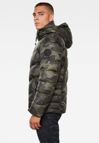 G-Star - WHISTLER HOODED PUFFER - Winter jacket - forest night circle camo - 2