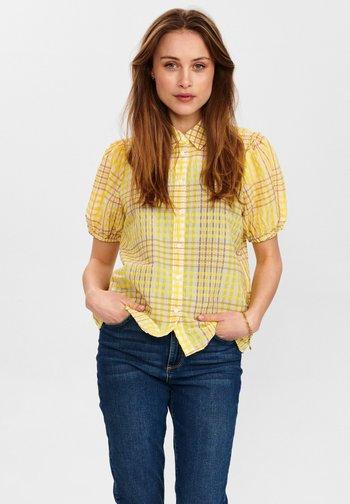 Button-down blouse - snapdragon