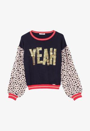 Sweatshirt - blue/gold/leopard print