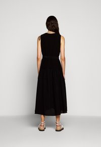 3.1 Phillip Lim - V NECK TANK DRESS SHIRRED SKIRT - Day dress - black - 2
