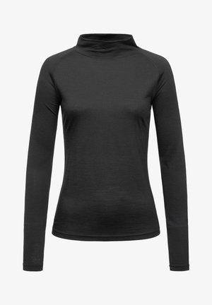 MERINO LONGSLEEVE W BASE TURTLE NECK 175 - Sports shirt - schwarz