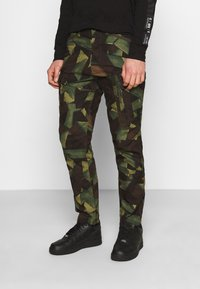 G-Star - ROXIC STRAIGHT TAPERED PANT - Pantalon cargo - olive/brown - 0