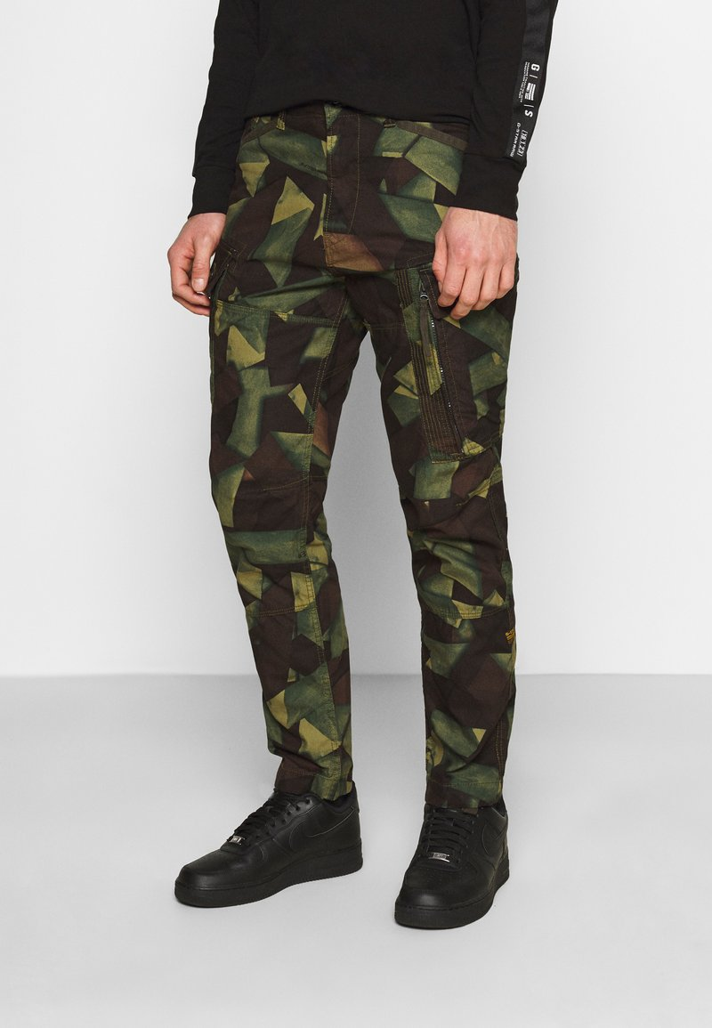 G-Star - ROXIC STRAIGHT TAPERED PANT - Pantalon cargo - olive/brown