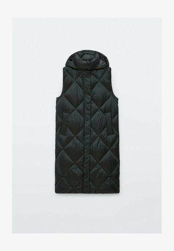 MIT KAPUZE  - Waistcoat - black