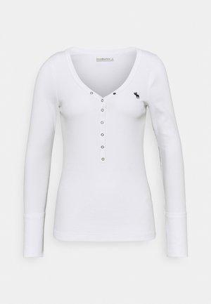 ICON HENLEY - Maglietta a manica lunga - white