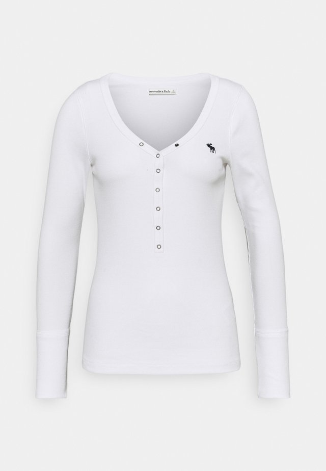 ICON HENLEY - Long sleeved top - white