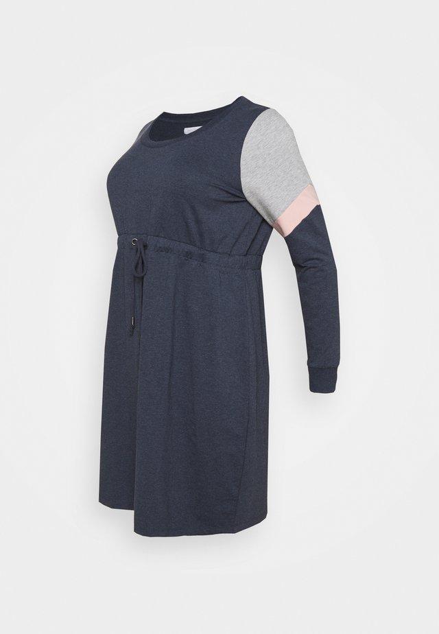 MLMENA  - Žerzejové šaty - navy blazer/melange