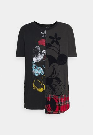 MICKEY MINNIEMIX - T-shirt con stampa - black
