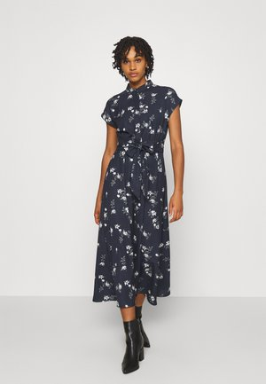 VMFALLIE LONG TIE DRESS - Shirt dress - navy blazer/newhallie