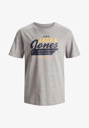 JJELOGO - T-shirt print - light grey melange