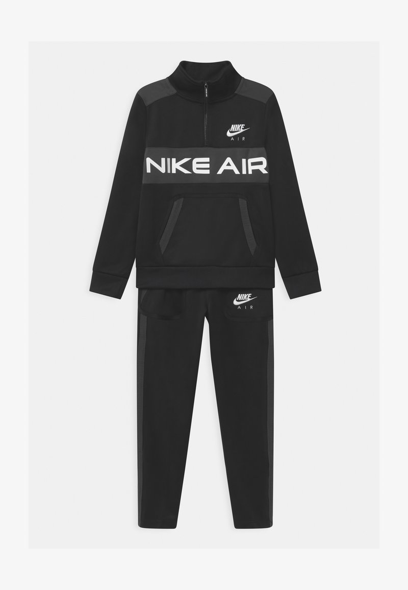 Nike Sportswear - AIR SET UNISEX - Tracksuit - black/dark smoke grey/white