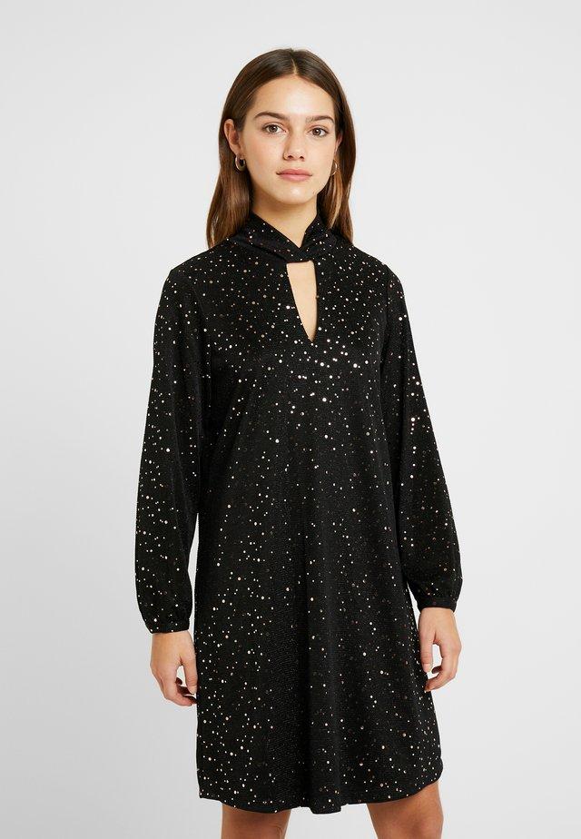 STARDUST SEQUIN TWIST DRESS - Cocktail dress / Party dress - black