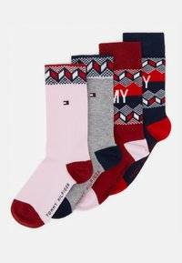 Tommy Hilfiger - KIDS SOCK FAIRISLE 4 PACK - Ponožky - tommy original rouge red - 0