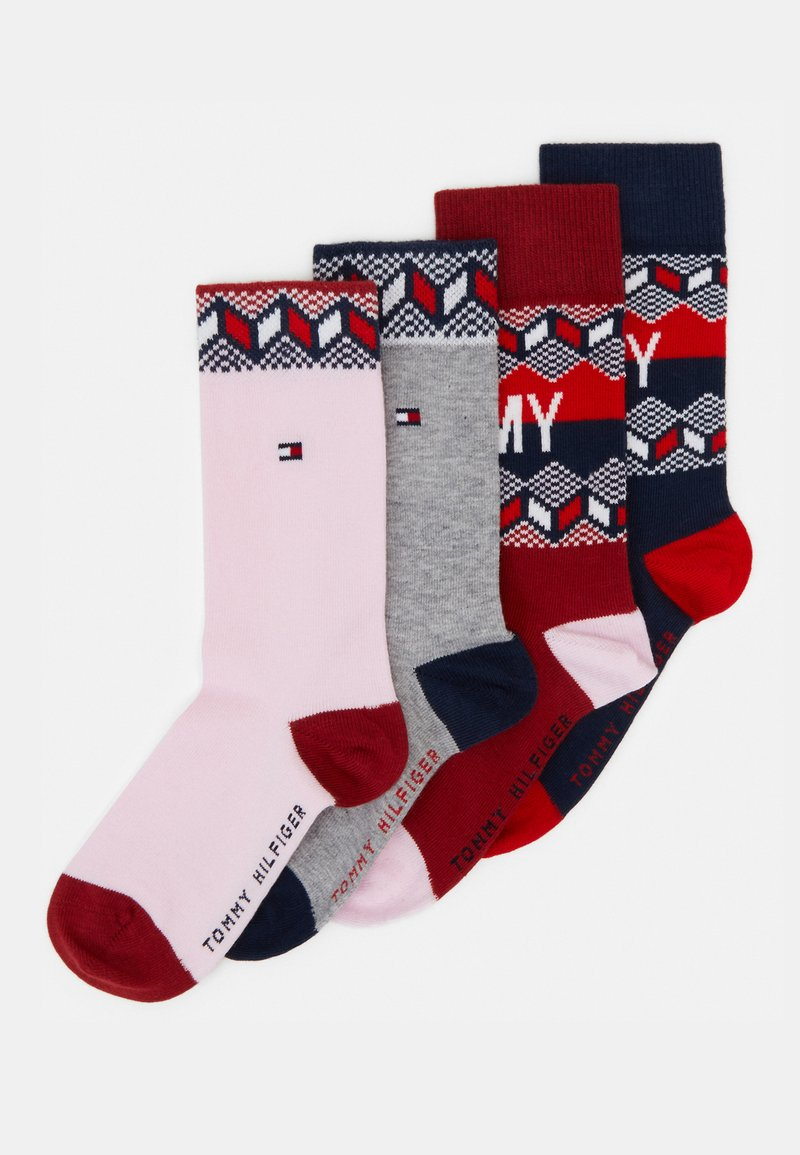 Tommy Hilfiger - KIDS SOCK FAIRISLE 4 PACK - Ponožky - tommy original rouge red